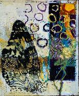 Wings, encaustic on board