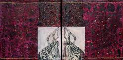 Double Wings, diptych, work on board